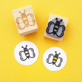 Buzzing Bee Rubber Stamp
