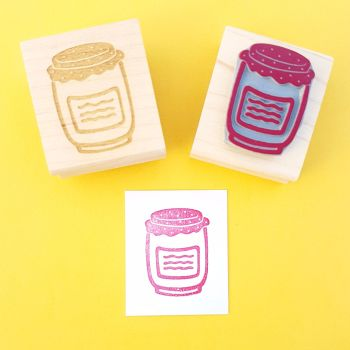 Jam Jar Rubber Stamp