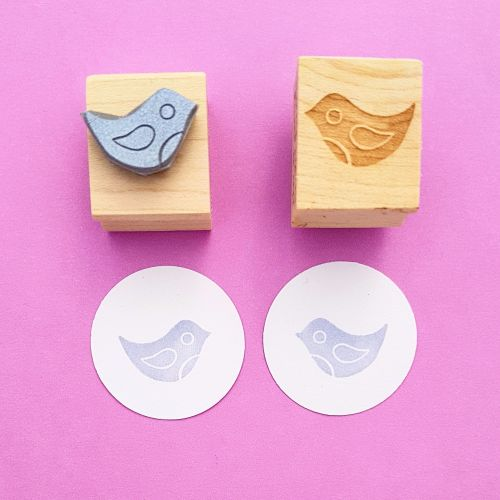 Midi Birds Hand Carved Rubber Stamps