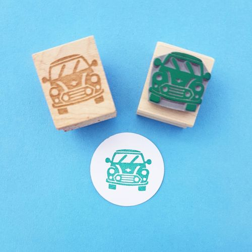 Mini Car Hand Carved Rubber Stamp