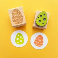Pair of Easter Eggs Rubber Stamps