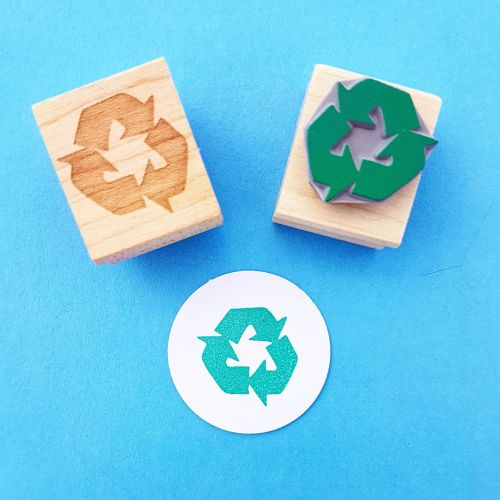 Recycle It Hand Carved Rubber Stamp