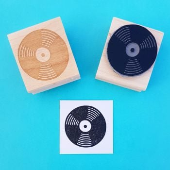 Vinyl Record Rubber Stamp