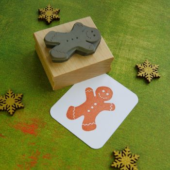 Large Gingerbread Man Rubber Stamp