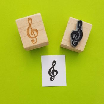 Treble Clef Rubber Stamp