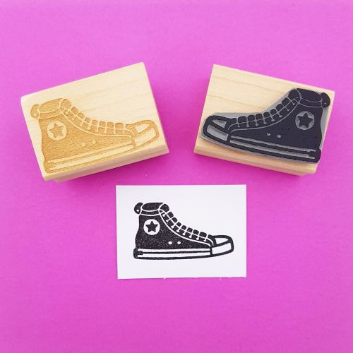 Basketball Boot Hand Carved Rubber Stamp