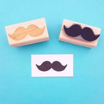 Bushy Moustache Rubber Stamp