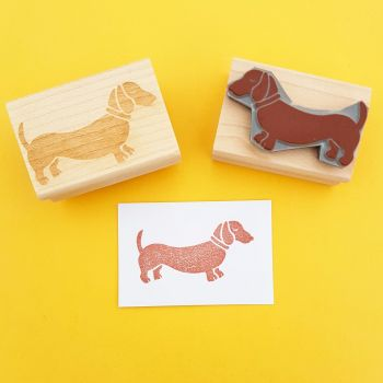 Dachshund Rubber Stamp