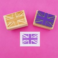Union Jack Hand Carved Rubber Stamp