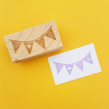 Party Bunting Rubber Stamp