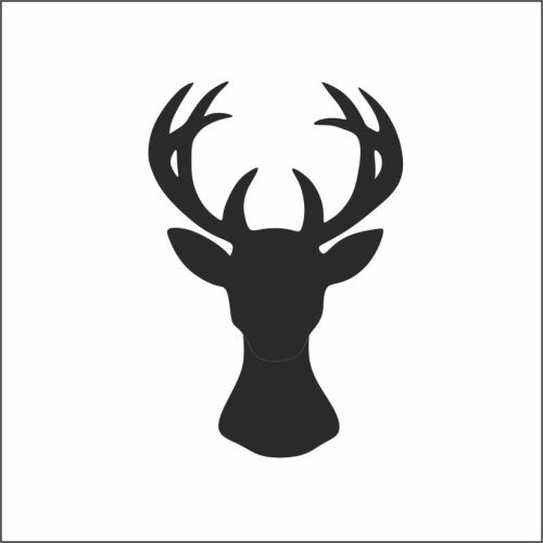 **NEW FOR 2017** - Christmas Stag's Head Rubber Stamp
