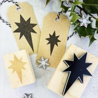Christmas Nativity Star Rubber Stamp