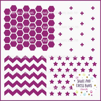 Hexagon/Chevron Pattern Large Stencil