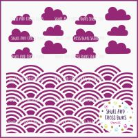 Cloud Rainbow Pattern Large Stencil