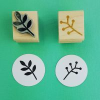 Floral Leaves Set of 2 Rubber Stamps