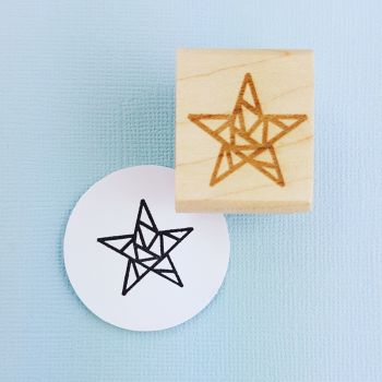 Geometric Star Rubber Stamp
