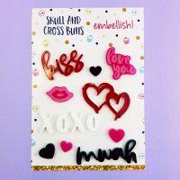 Brush Hearts Embellish! Set