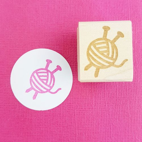 Mini Yarn Rubber Stamp