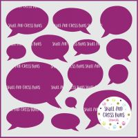 Speech Bubbles Large Stencil