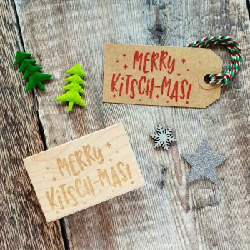 Merry Kitsch-Mas Christmas Rubber Stamp