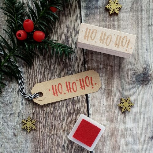 ***NEW FOR 2018*** Christmas Ho Ho Ho Kitsch Style Rubber Stamp