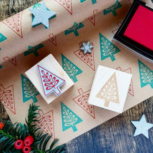 ***NEW FOR 2018*** Scandi Christmas Trees Rubber Stamp