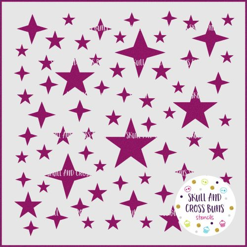***NEW FOR 2018*** Stars and Sparkles Large Stencil