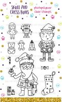 Christmas Santa Workshop Rubber Stamp Set