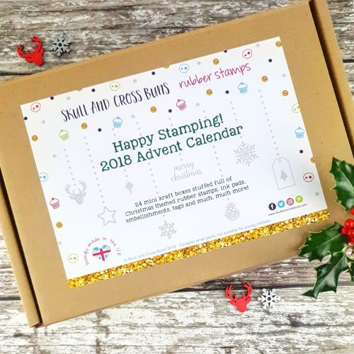 ***NEW FOR 2018*** Happy Stamping 2018 Rubber Stamp Advent Calendar