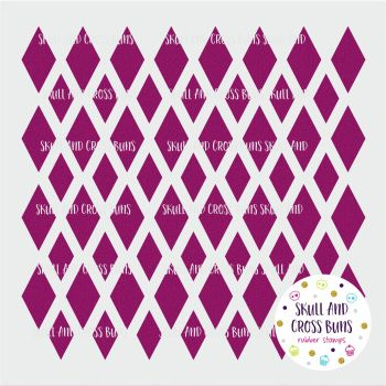 Diamond Harlequin Large Stencil