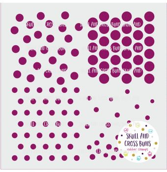 ***NEW FOR 2019*** Dots and Spots Large Stencil