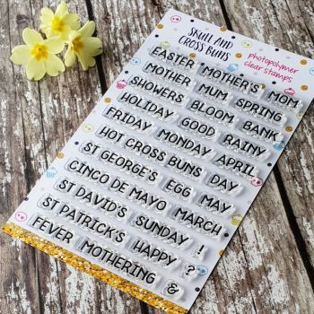 ****NEW FOR 2019**** Spring Sentiments Clear Rubber Stamp Set