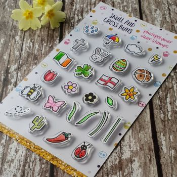 ****NEW FOR 2019**** Spring Motifs Clear Rubber Stamp Set