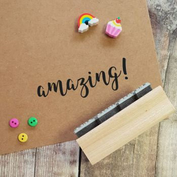 Amazing! Script Rubber Stamp 50% OFF!