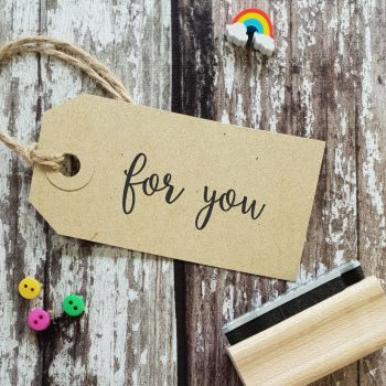 For You Calligraphy Rubber Stamp