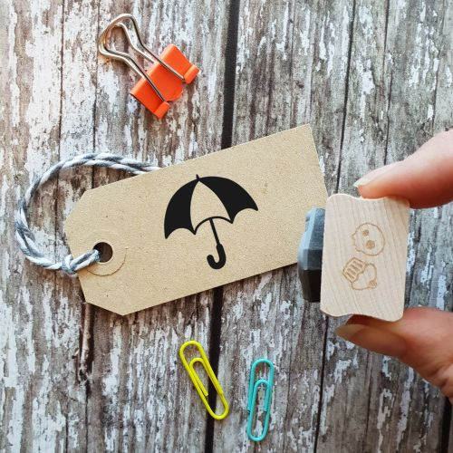 Umbrella Rubber Stamp