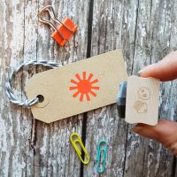 Small Sun Rubber Stamp