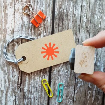 Small Sun Rubber Stamp