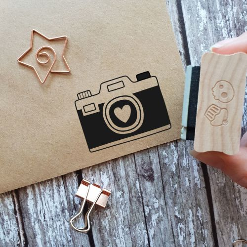 Kitsch Camera Rubber Stamp
