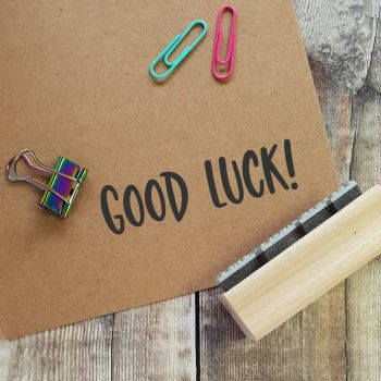 Good Luck Quirky Rubber Stamp