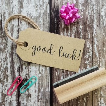 Good Luck Calligraphy Rubber Stamp