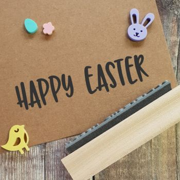 Happy Easter Quirky Rubber Stamp