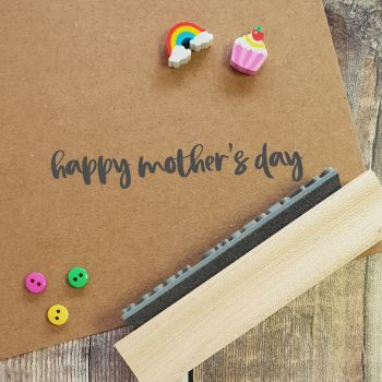 Happy Mother's Day Brushstroke Rubber Stamp