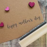 Happy Mother's Day Script Rubber Stamp