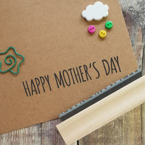 Happy Mother's Day Skinny Rubber Stamp