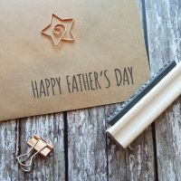 Happy Father's Day Skinny Rubber Stamp