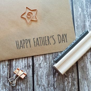 Happy Father's Day Skinny Rubber Stamp 50% OFF!