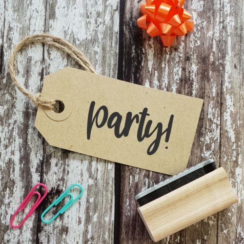 Party! Quirky Font Rubber Stamp