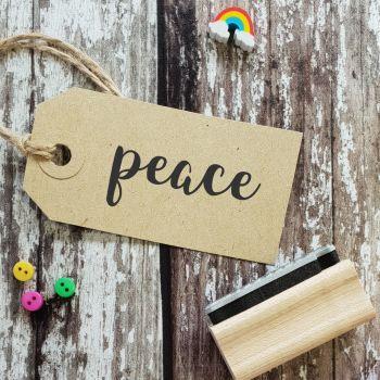 Peace Script Font Rubber Stamp