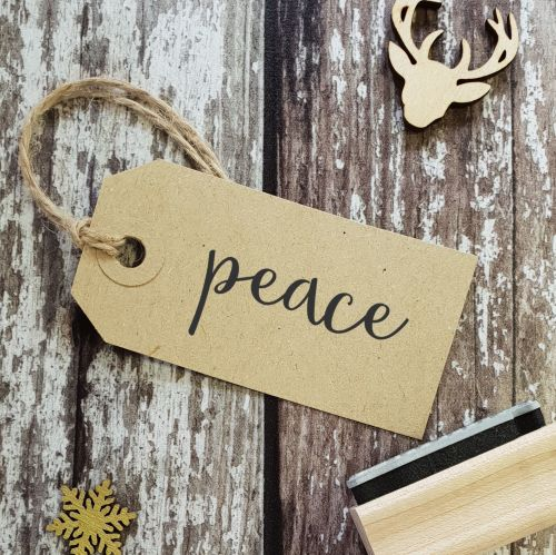Peace Calligraphy Font Rubber Stamp